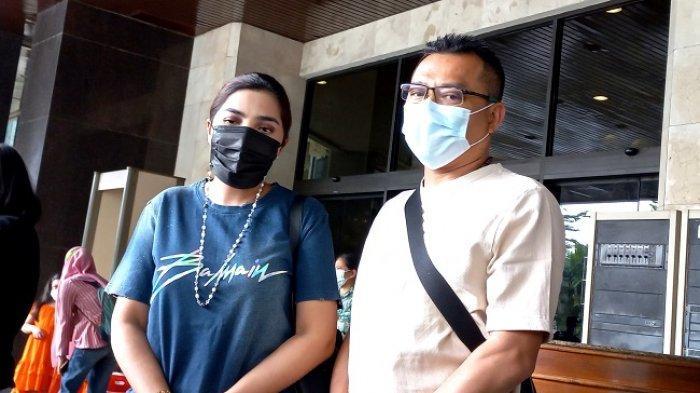 Ashanty dan Anang Hermansyah ditemui di Grand Sahid Hotel Sudirman, Jakarta Pusat, Minggu (13/5/2021).