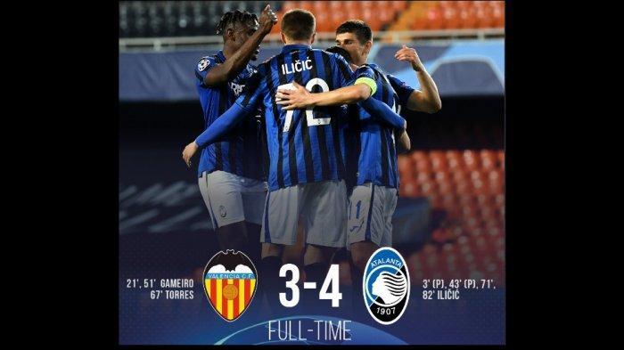 Atalanta Cetak Sejarah Lolos ke Babak Perempatfinal Liga Champions Setelah Kalahkan Valencia 4-3