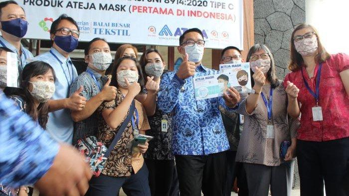 Ateja Mask Produksi Masker Pertama Tipe C Berstandar SNI hingga Lakukan Ekspor ke Delapan Negara