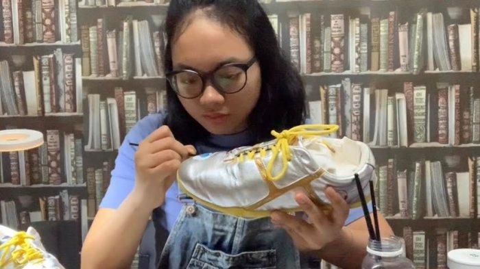 Ini Tantangan Melukis Sepatu Menurut Naeda, Atlet Renang Indah Indonesia yang Banjir Order Melukis