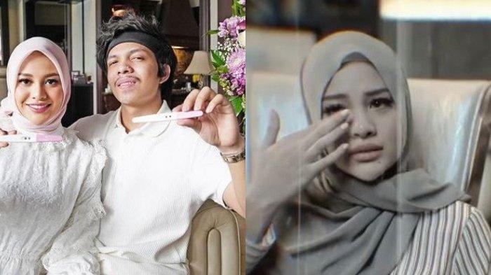 Aurel Hermansyah dan Atta Halilintar saat umumkan kehamilan dan setelah keguguran.