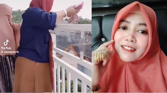 Sederet Fakta Ayang Yasmin, Crazy Rich Malang Sebar Uang THR Rp 100 Juta dari Balkon Rumahnya