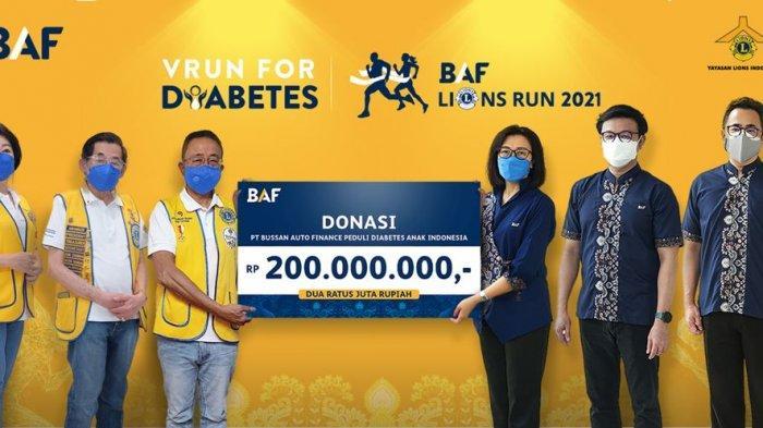 BAF Lions Run 2021, VRun for Diabetes, 3.200 Peserta Telah Berlari Sambil Berdonasi