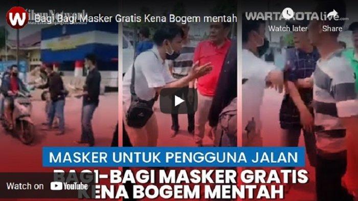 VIDEO Viral Bagi-bagi Masker Gratis, Pemuda Ini Malah Kena Bogem Mentah