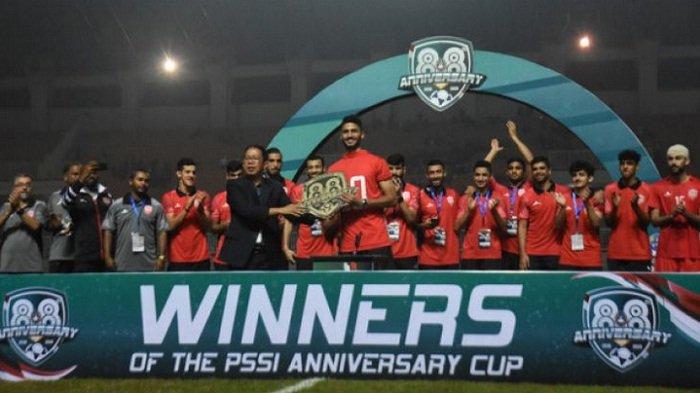 Timnas Bahrain U-23 Juara PSSI Anniversary Cup 2018