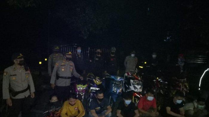 Polsek Tanjung Duren Ciduk Tujuh Pemuda yang Hendak Balap Liar Motor di Bulan Ramadan
