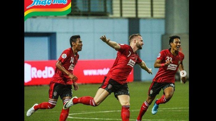 Babak Pertama Bali United vs Tampines Rovers 2-1, Live Streaming, Gol Spektakuler Melvin Platje