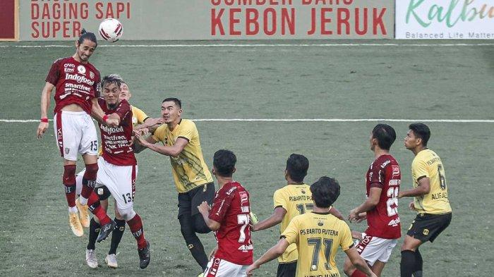 Skuad Bali United FC Kalah 2-0 dari Barito Putera di Pertandingan Keempat Tour De Java
