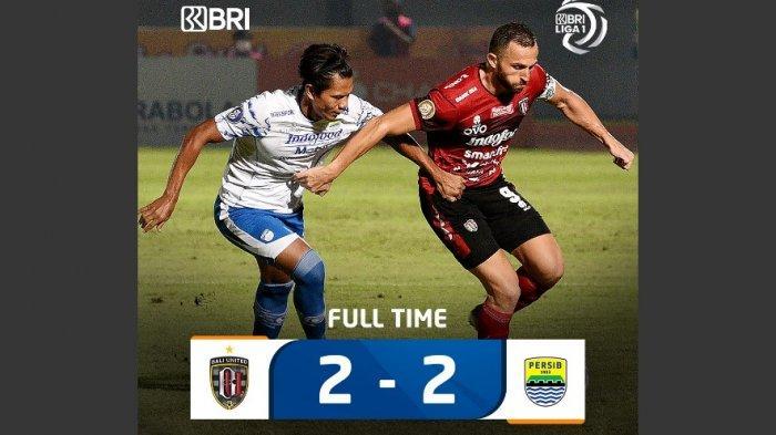 Hasil Lengkap Liga 1, Persib Gagal Kalahkan 10 Pemain Bali United, Persija Hadapi Laga Penentuan
