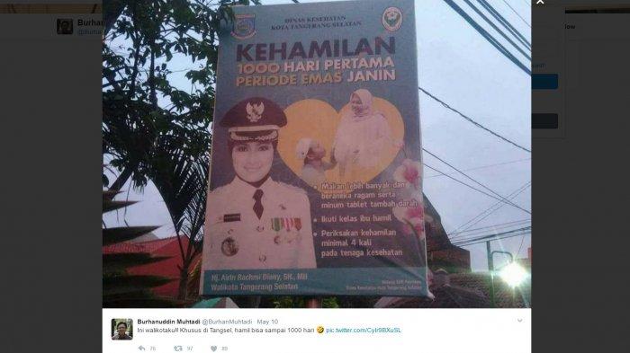 Burhanuddin Muhtadi: Hanya di Tangsel Hamil Sampai 1000 Hari