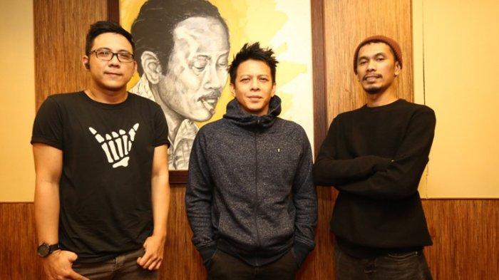 Personel Band NOAH saat ditemui di Musica Studio, Perdatam, kawasan Pancoran, Jakarta Selatan, Senin (18/11/2019). NOAH merilis album ketiga mereka berjudul Keterkaitan Keterikatan.