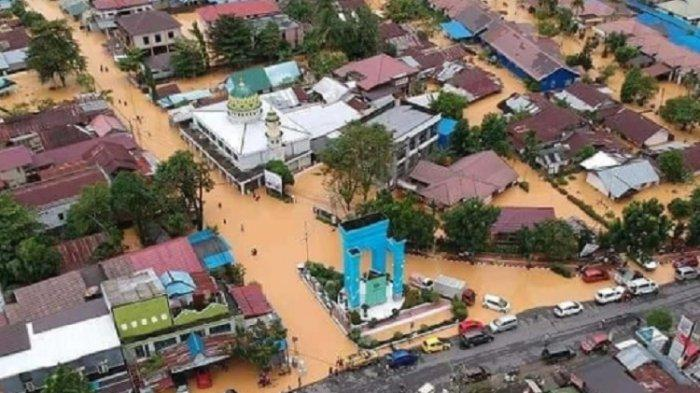 Banjir terjadi merata di hampir semua wilayah di Provinsi Kalimantan Selatan