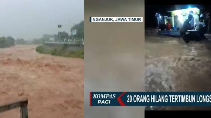 Daftar Korban Meninggal Dunia dan 16 Warga Belum Ditemukan karena Banjir dan Longsor di Nganjuk