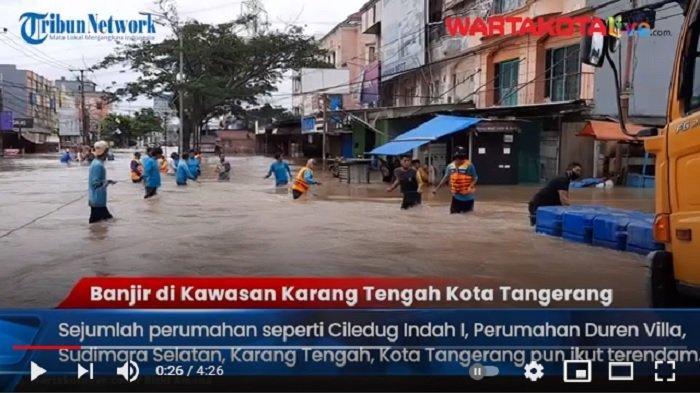 VIDEO Dua Perumahan di Karang Tengah Tenggelam, Kebanjiran Hingga 2 Meter dan Akses Jalan Putus