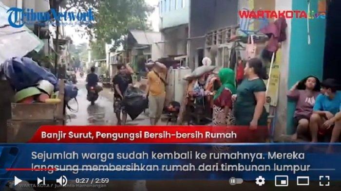 VIDEO Banjir di RW 04 Cipinang Melayu Surut, Warga Pulang dari Pengungsian dan Bersih-bersih Rumah
