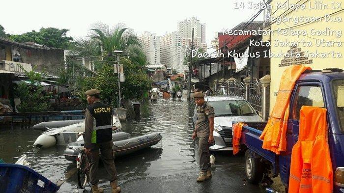 Banjir di Pegangsaan Dua Kelapa Gading Berangsur Surut, Masih Ada Pemukiman Warga yang Terendam