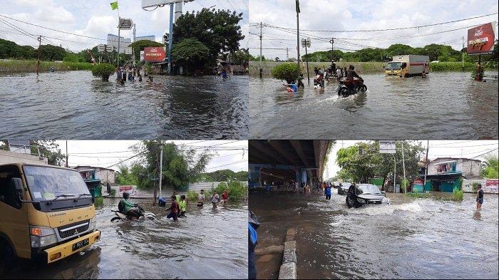 Ini Penyebab Banjir di Jalan Lingkar Luar Barat Hingga Rekayasa Lalu Lintas di Lampu Merah Kembangan