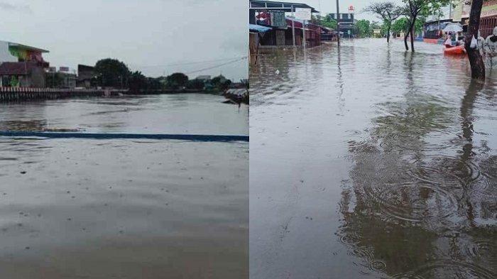 Kecamatan Periuk Tangerang Banjir Lagi Sampai 140 Cm, Warga Diteriaki Pakai Toa Agar Mengungsi