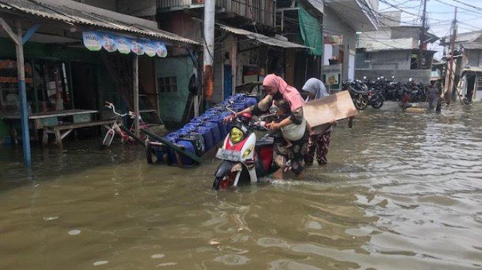 Cuaca Ekstrem Membuat Belasan RT di Muara Angke Terendam Banjir Rob
