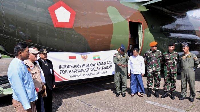 Bantuan Kemanusiaan Kloter 9 dan 10 dari Indonesia Tiba di Myanmar