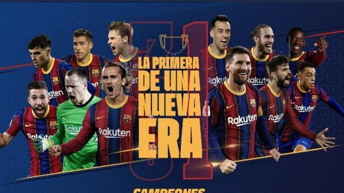 Bantai Bilbao 4-0, Barcelona Juara Copa Del Rey 2021, Trofi Juara Copa ke-31, Pertama untuk Koeman