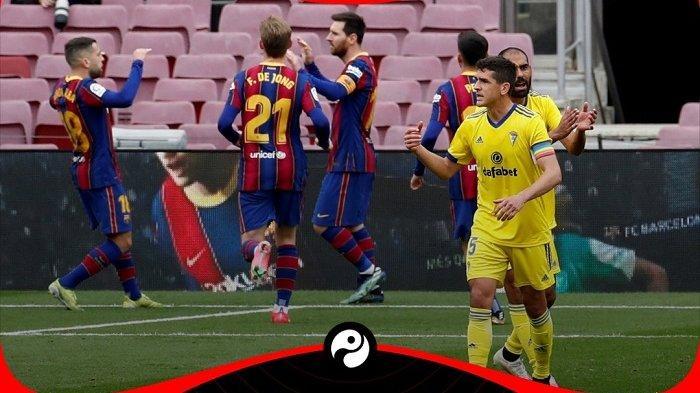 Hasil Liga Spanyol Barcelona 1-1 Cadiz: Gol Alex Fernandez Gagalkan Blaugrana Raih 3 Poin di Kandang