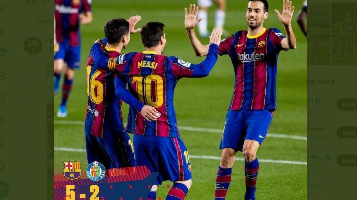 Hasil Lengkap dan Klasemen Liga Spanyol, Barcelona Geser Sevilla di 3 Besar, Atletico ke Puncak Lagi