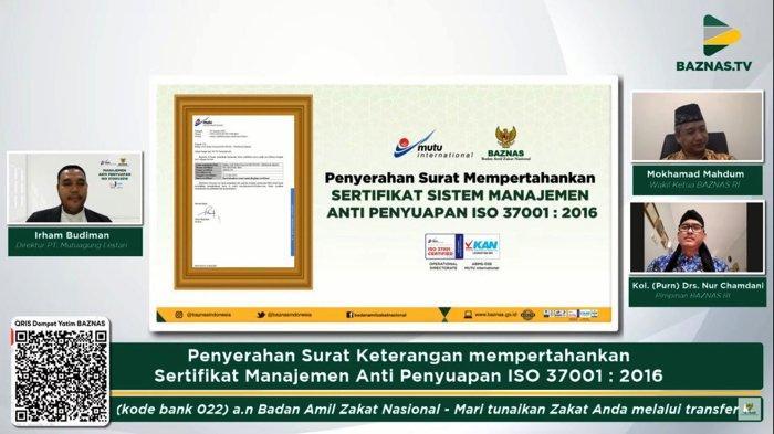 BAZNAS Berhasil Pertahankan Sertifikasi Manajemen Anti Penyuapan SNI ISO 37001:2016