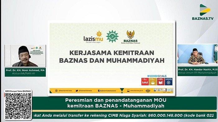 BAZNAS Resmikan Program Kemitraan dan Penandatanganan Kerjasama dengan Muhammadiyah