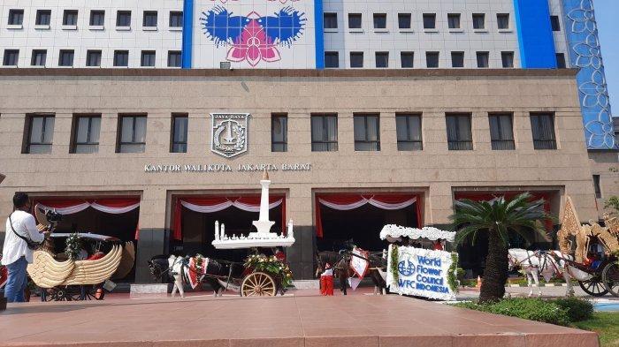 Meriahkan HUT Ke-75 RI, Belasan Delman Konvoi di Kantor Wali Kota Jakarta Barat