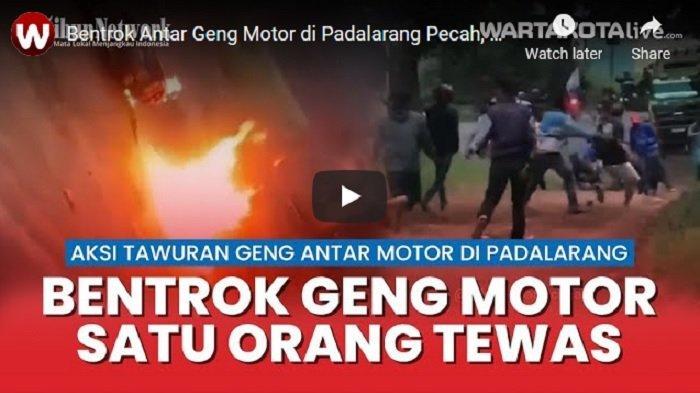 VIDEO Bentrok Antar Geng Motor di Padalarang, Satu Orang Tewas Ditusuk