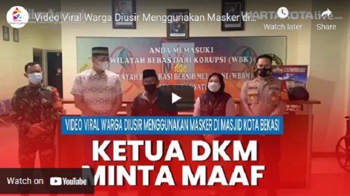 VIDEO VIRAL Warga Diusir Saat Akan Salat di Masjid Karena Menggunakan Masker, Ketua DKM Minta Maaf