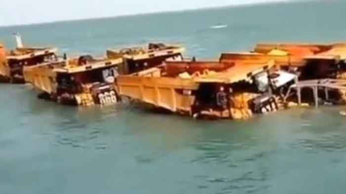 Kapal Alat Berat untuk Ibu Kota Baru Dikabarkan Tenggelam di Perairan Sampit, Ini yang Terjadi