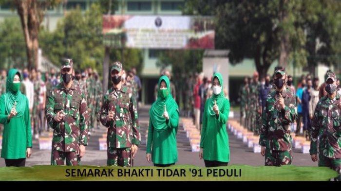Alumni Bhalti Tidar 1991 atau Akmil 1991 saat melakukan reuni dan Bhakti Sosial Rabu 21 Juli 2021 lalu.