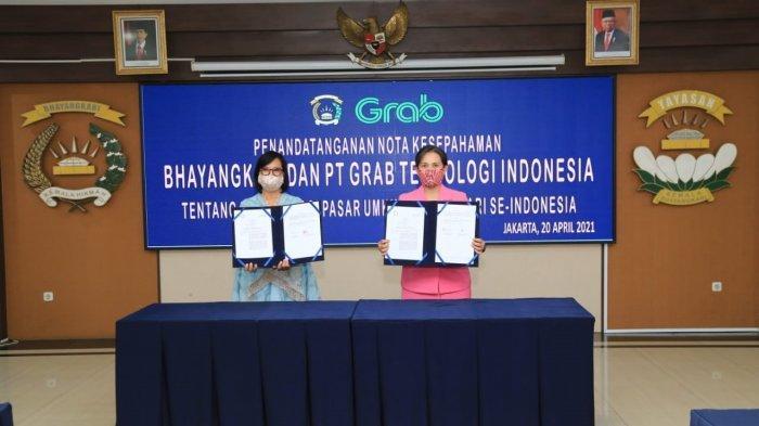 Peringati Hari Kartini, Bhayangkari dan PT Grab Tandatangani MoU Digitalisasi UMKM se-Indonesia