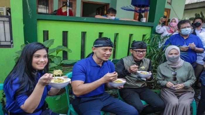 AHY ke Kampung Labirin Babakan Pasar Kota Bogor, Bima Arya Ajak Santap Laksa dan Tutug Oncom