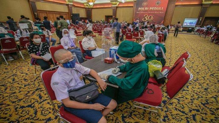 Ada 2.598 Pelajar Kota Bogor Vaksinasi Covid-19 Dosis Pertama,19 Siswa Ditunda, Ini Alasannya