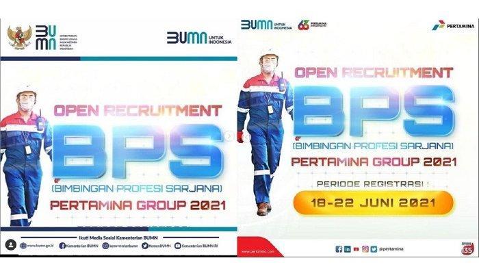 Lowongan Kerja BUMN, PT Pertamina Persero Buka Pendaftaran BPS Pertamina Group 2021, Berikut Linknya