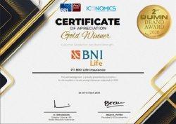 BNI Life Raih Gold Winner Kategori Customer Satisfaction & Brand Strength di BUMN Brand Award 2020