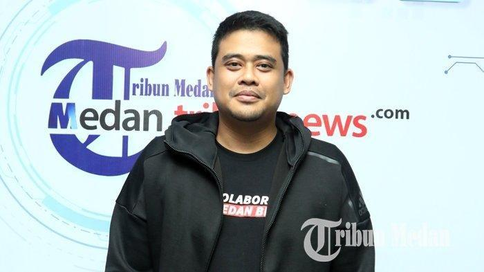 Bobby Nasution saat bersilaturahmi ke Harian Tribun Medan, Kamis (9/1/2019).