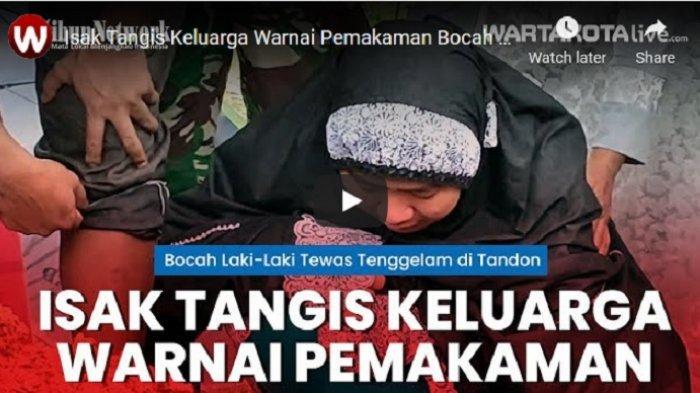 VIDEO Bocah Laki-Laki Tewas Akibat Tenggelam di Tandon Jurang Mangu Barat Pondok Aren