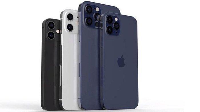 Bocoron foto Apple iPhone 12 Mini, iPhone 12, iPhone 12 Pro, dan iPhone 12 Pro Max.