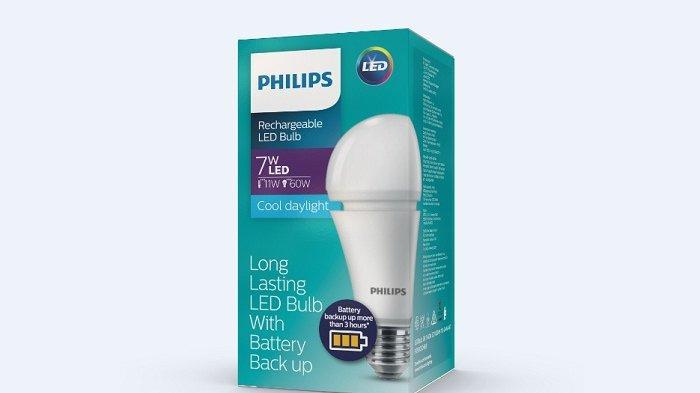 Bohlam Philips Rechargeable LED, Bisa Terus Nyala Saat Padam Listrik Mendadak