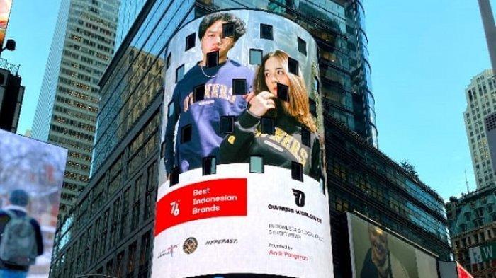 Tembus Pasar Global, Brand Owner WorldWide Asal Bandung Kini Mejeng di Times Square, New York