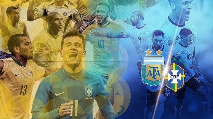 PREVIEW Brasil vs Argentina: Pertahanan Samba Lebih Baik dari Tango