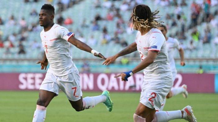Sedang Berlangsung Wales vs Swiss 1-1, Gol Sundulan Kepala Embolo Dibalas Sundulan Kieffer Moore