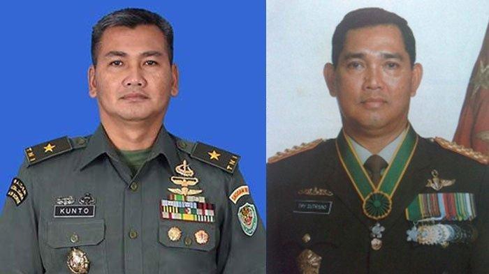 Brigjen TNI Kunto dan ayahnya, mantan Wapres Try Sutrisno.