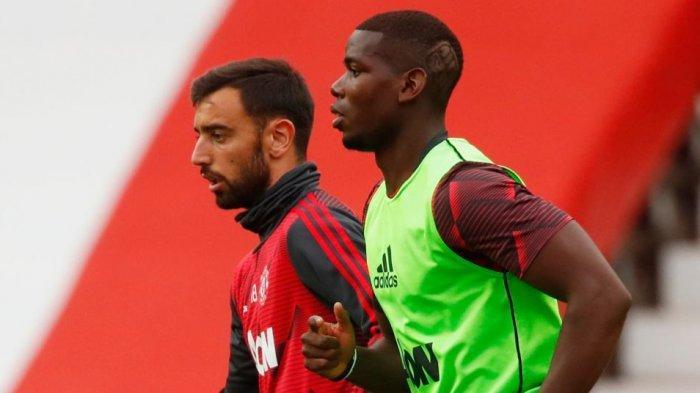 Bruno Fernandes punya hubungan yang baik dengan Paul Pogba