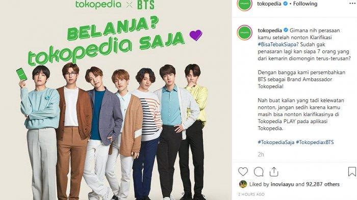 BTS Resmi Menjadi Brand Ambassador Tokopedia, ARMY Indonesia Bahagia