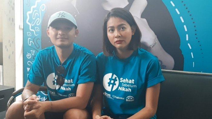 Bunga Jelitha dan Syamsir Alam saat ditemui di acara #SehatSebelumNikah di Jakarta Selatan, Selasa (26/11/2019).
